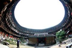 Vista interna della torretta della terra del cerchio Fotografia Stock Libera da Diritti