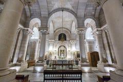 Vista interna di Almudena Cathedral - Madrid Immagine Stock Libera da Diritti