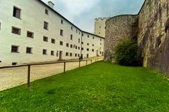 Vista interna di Hohensalzburg Fotografia Stock Libera da Diritti