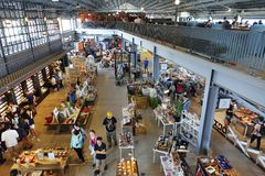 Vista interna di nuovo centro commerciale in Taiwan Immagine Stock