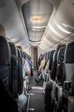 Vista interna di un aeroplano fotografie stock
