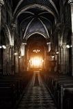 Cattedrale gotica sinistra fotografia stock