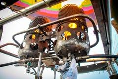Vista interna di una mongolfiera fotografia stock