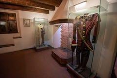 Vista interna do castelo do farelo de Romênia, igualmente conhecida como o castelo de Dracula fotografia de stock