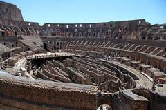 Vista interna do coliseu em Roma, Itália Foto de Stock