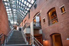 Vista interna do museu memorável do holocausto, no Washington DC, EUA Fotos de Stock Royalty Free