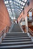 Vista interna do museu memorável do holocausto, no Washington DC, EUA fotografia de stock royalty free
