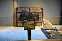Vista interna do museu memorável do holocausto, no Washington DC, EUA fotografia de stock