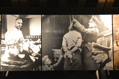 Vista interna do museu memorável do holocausto, no Washington DC, EUA Imagens de Stock