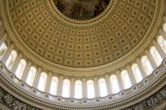 Vista interna sul soffitto rotunda degli Stati Uniti Campidoglio Fotografie Stock Libere da Diritti