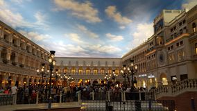 Vista interna Venetian foto de stock