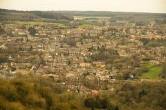 Vista interurbana di Matlock in Derbyshire Fotografia Stock Libera da Diritti