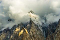 Vista intorno al villaggio di Passu, Pakistan Fotografie Stock