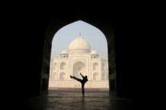 Vista inusual de Taj Mahal Fotos de archivo libres de regalías