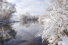 Vista invernal imagem de stock
