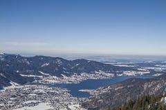 Vista invernale di Tegernsee Immagini Stock