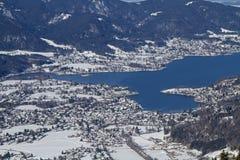 Vista invernale di Tegernsee Fotografia Stock