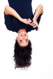 Lettura upside-down Immagini Stock Libere da Diritti