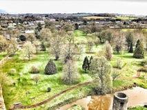 Vista irlandese del castello immagini stock