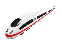 Vista isolata treno bianco Fotografia Stock