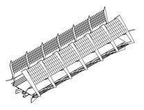 Vista isométrica de un puente ilustración del vector