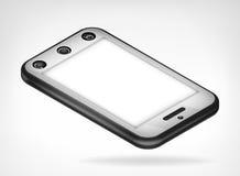 Vista isometrica isolata dello Smart Phone del cromo Fotografia Stock