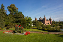 Vista of Johannisburg Palace Stock Photography