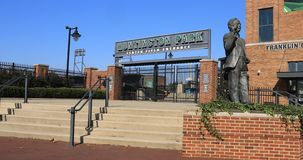 vista 4K del parque de Huntington, hogar a Columbus Clippers, un triple - equipo de granja de Cleveland Indians