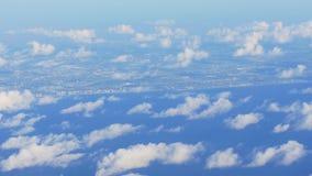 Vista 4k Florida S.U.A. della finestra della pianura del getto di Miami Beach di giorno di estate stock footage