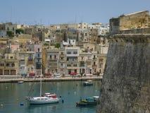 Vista a Kalkara, Malta fotografia de stock