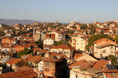 Vista a Kastamonu, una città in Turchia Fotografia Stock Libera da Diritti
