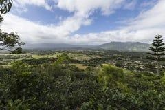 Vista Kauai della valle di Wailua Fotografie Stock Libere da Diritti