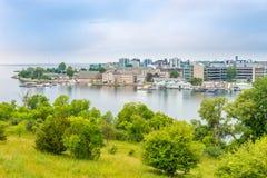Vista a Kingston da Henry Hill forte - il Canada fotografia stock libera da diritti