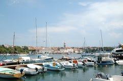 Vista a Krk del barco, Croacia Fotos de archivo libres de regalías