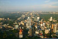 Vista Kuala Lumpur di sera Fotografia Stock