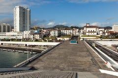 Vista a la ciudad de Ponta Delgada Imagen de archivo libre de regalías
