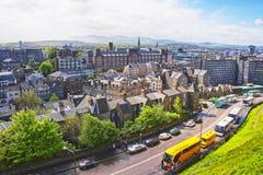 Vista a la ciudad vieja de Edimburgo en Escocia Imagen de archivo libre de regalías