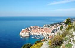 Vista a la ciudad vieja Dubrovnik, Croacia Imagen de archivo