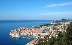 Vista a la ciudad vieja Dubrovnik, Croacia Fotografía de archivo