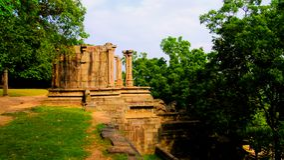 Vista a la ciudadela de Yapahuwa, vieja capital de Sri Lanka foto de archivo