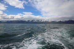 Vista a la costa costa de Islandia septentrional Fotografía de archivo