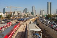 Vista a la estación del railoroad Fotos de archivo libres de regalías