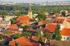 Vista a la iglesia de Nikolajevska en Zemun Imagen de archivo