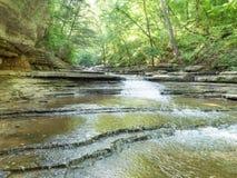 Vista larga da cachoeira na angra de Tanyard Fotografia de Stock