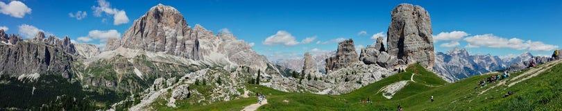 Vista larga de Dolomiti Fotos de Stock