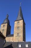 Vista a las dos torres rojas, Altenburgo Fotos de archivo libres de regalías