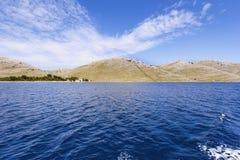 Vista a las islas de Kornati imagen de archivo libre de regalías