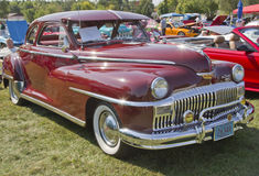 Vista lateral 1948 del coche de DeSoto Foto de archivo libre de regalías