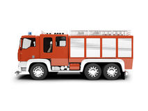 Vista lateral aislada Firetruck Imagen de archivo libre de regalías