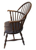 Vista lateral antigua de la silla de Windsor aislada Fotografía de archivo libre de regalías